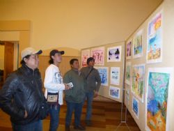 "The Indonesian seafarers from the vessel ""Ricsky"" with the great interest visited the exhibition ""Colors of Sea"""